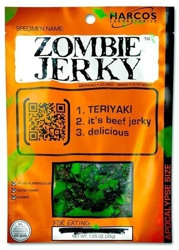A bag of Zombie Jerky that's probably okay to eat.