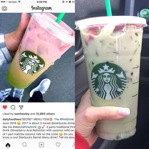 Starbucks Customers Are Posting Photos Of Their Matcha Pink