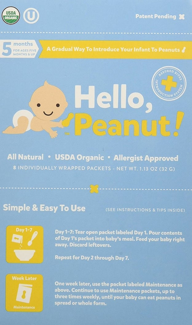 A pack of Hello, Peanut to introduce your baby to peanuts.