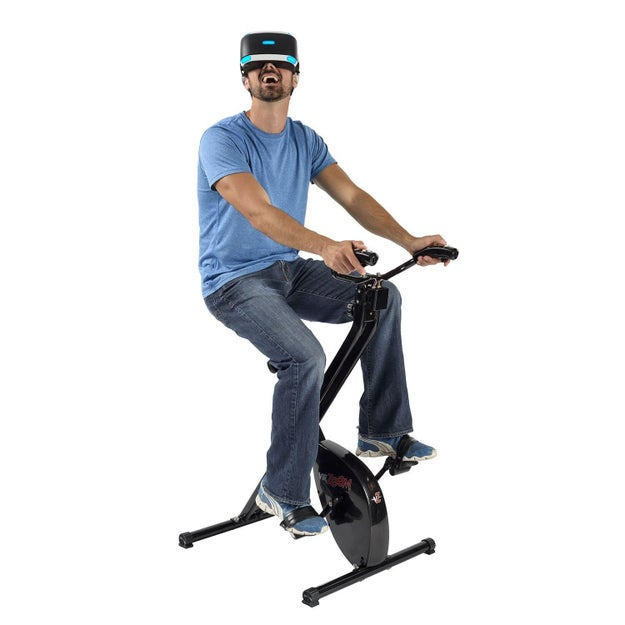 And this virtual reality exercise machine because exercising IRL is just too hard.