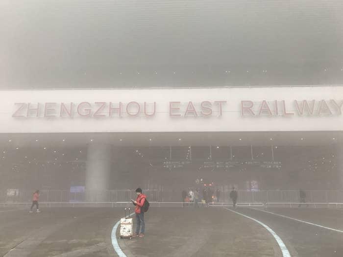 Smog in Zhengzhou, China, in January.