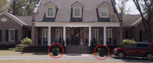 "There are omega (Ω) symbols outside the Armitage's home. Omega is the last letter of the Greek alphabet, which may represent ""the end"" for Chris."