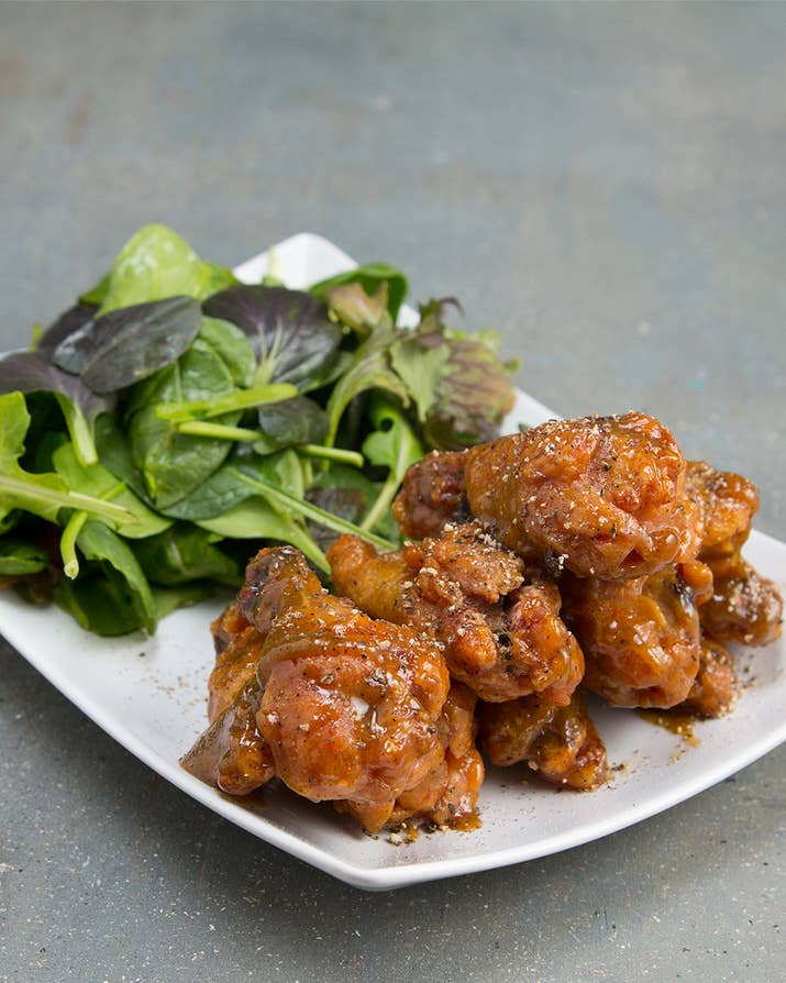 You need to make this healthier spin on chicken wings asap honey mustard wings forumfinder Image collections