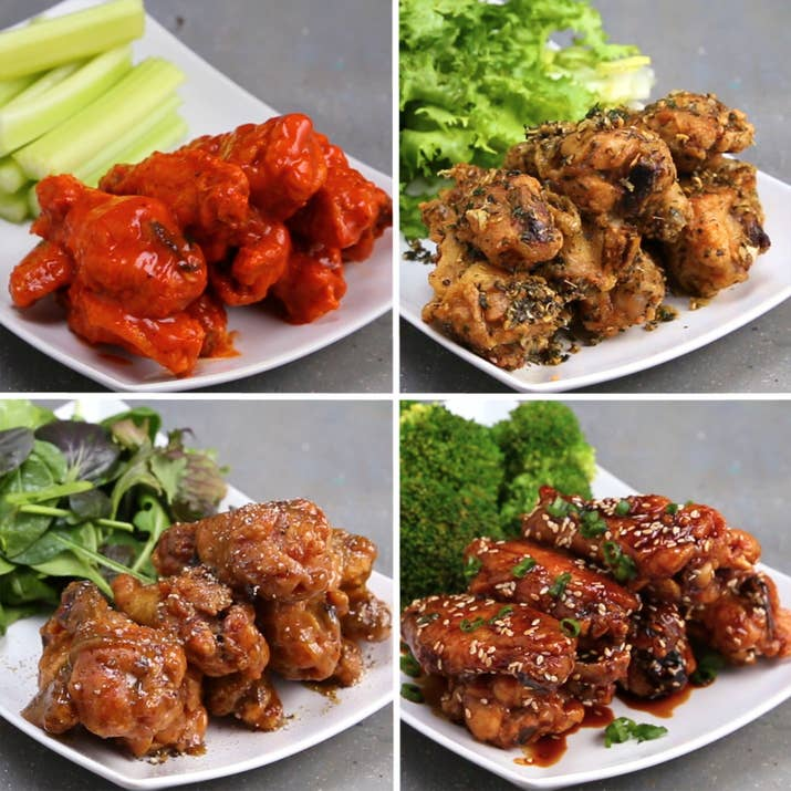 You need to make this healthier spin on chicken wings asap servings 1 2 wings per recipe forumfinder Images