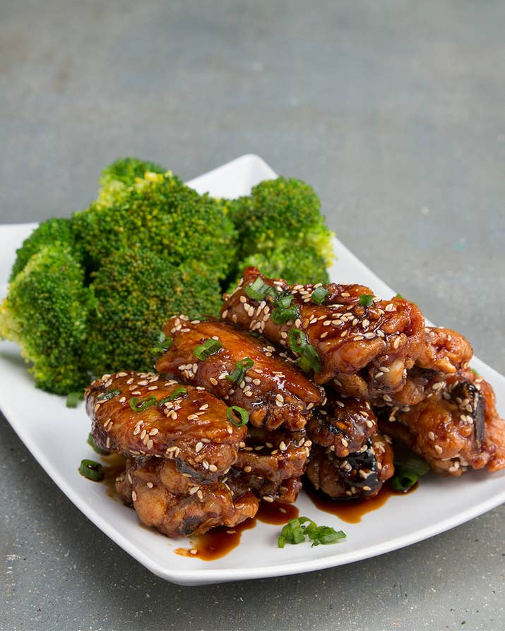 You need to make this healthier spin on chicken wings asap ingredients1 pound chicken wings2 teaspoons baking powder1 teaspoon saltteriyaki sauce cup low sodium forumfinder Image collections