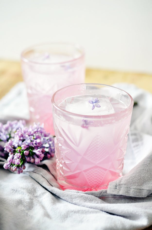 Rhubarb Lilac Spritzer