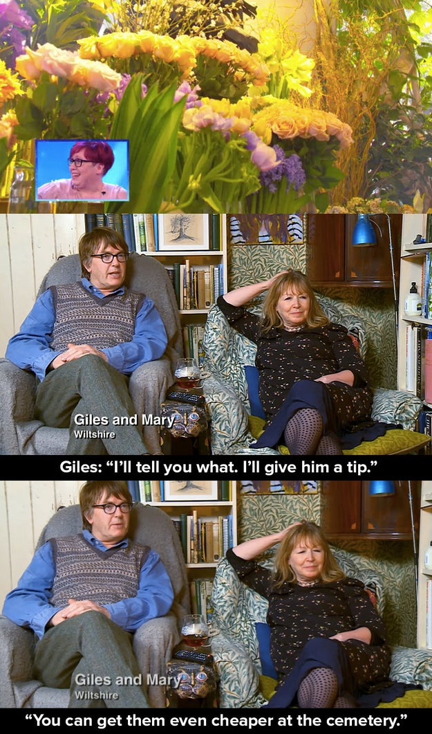 14 times giles and mary were weird and sassy af on gogglebox. Black Bedroom Furniture Sets. Home Design Ideas