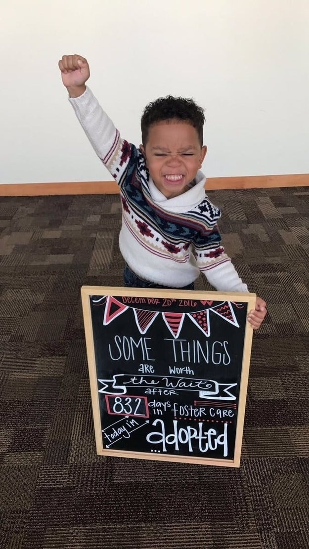 This overwhelmingly adorable adoption photo.
