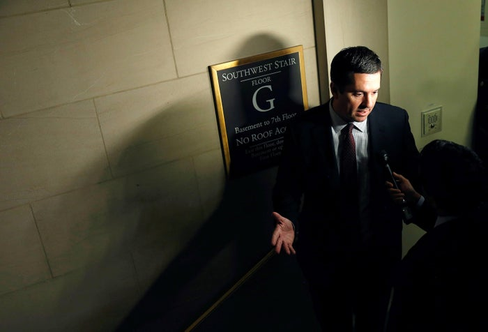 Chairman of the House Intelligence Committee Deven Nunes (R-CA) speaks to reporters on Capitol Hill.
