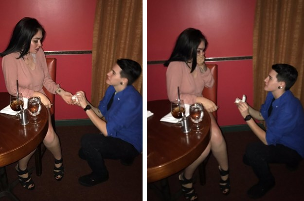 These Teens Faked A Proposal At A Fancy Restaurant And People Are Calling It Iconic