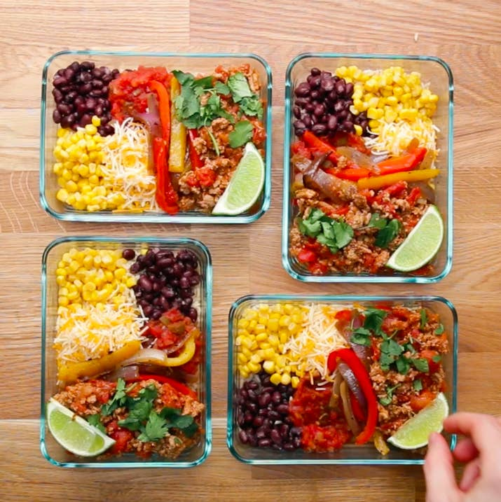 5 meal prep recipes weekday meal prep turkey taco bowls forumfinder Choice Image