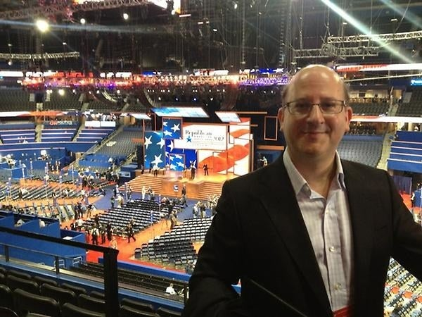Kelner at the 2012 Republican National Convention.