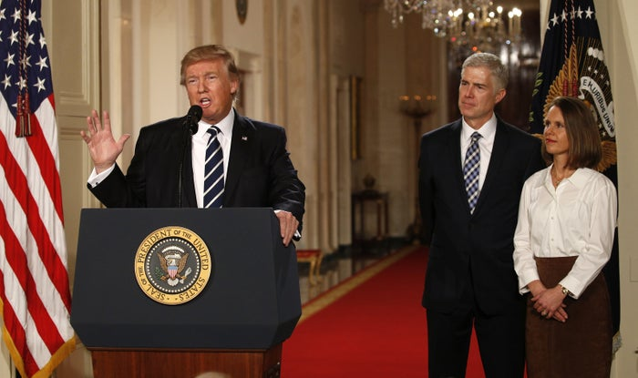 President Trump announces his nomination of Neil Gorsuch to the US Supreme Court.
