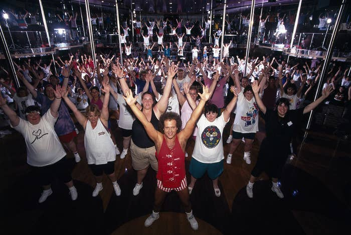 Famous American fitness coach Richard Simmons in 1996.