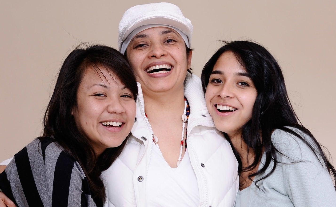 Writer-director Aurora Guerrero with the stars of Mosquita y Mari, Fenessa Pineda and Venecia Troncoso.
