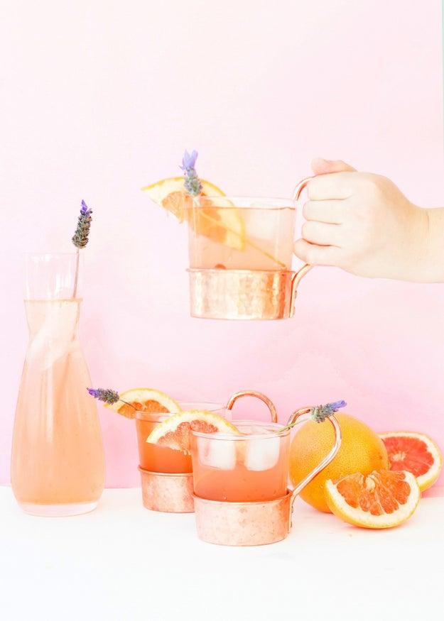Lavender Grapefruit Gin Buck
