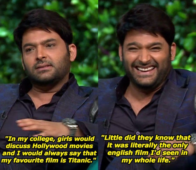 When he talked about impressing girls with his film knowledge.