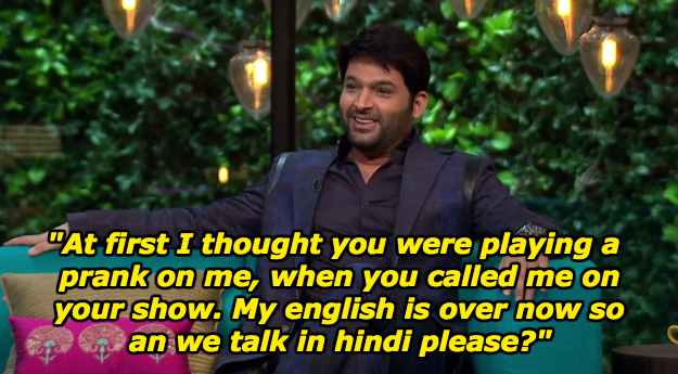 When Kapil couldn't believe the invitation to Karan Johar's show.