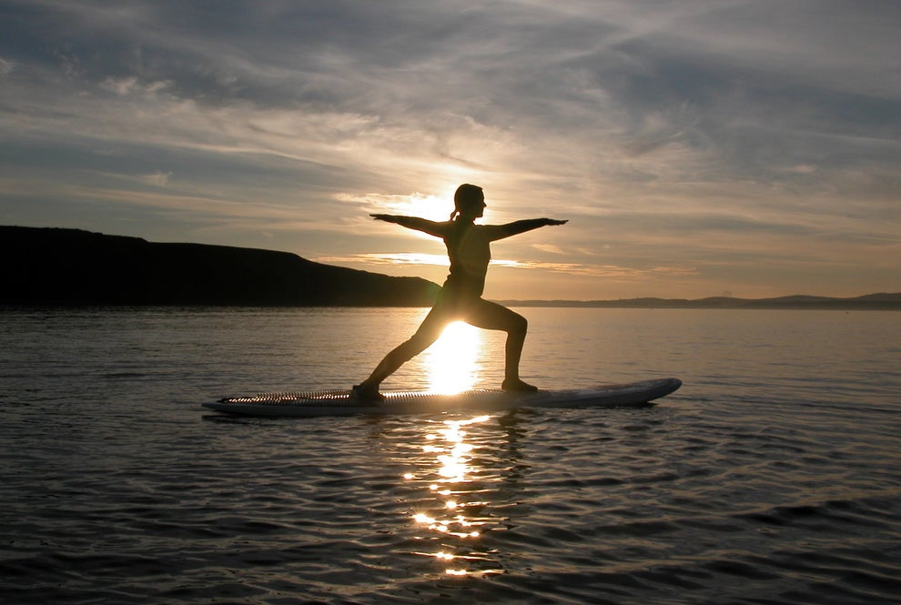 Try your hand at Paddle Board Yoga on Lewis.