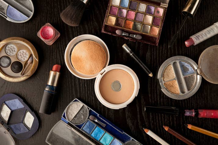 Every time you touch your makeup, you transfer all the dirt and tiny little organisms on your skin into the product. The same goes for any brush or sponge applicator — all those germs will inevitably get into your makeup, too. And it's safe to assume that the average person is not diligently washing and sanitizing their hands and brushes before and between using products. So over time, makeup products will become full of all kinds of things.