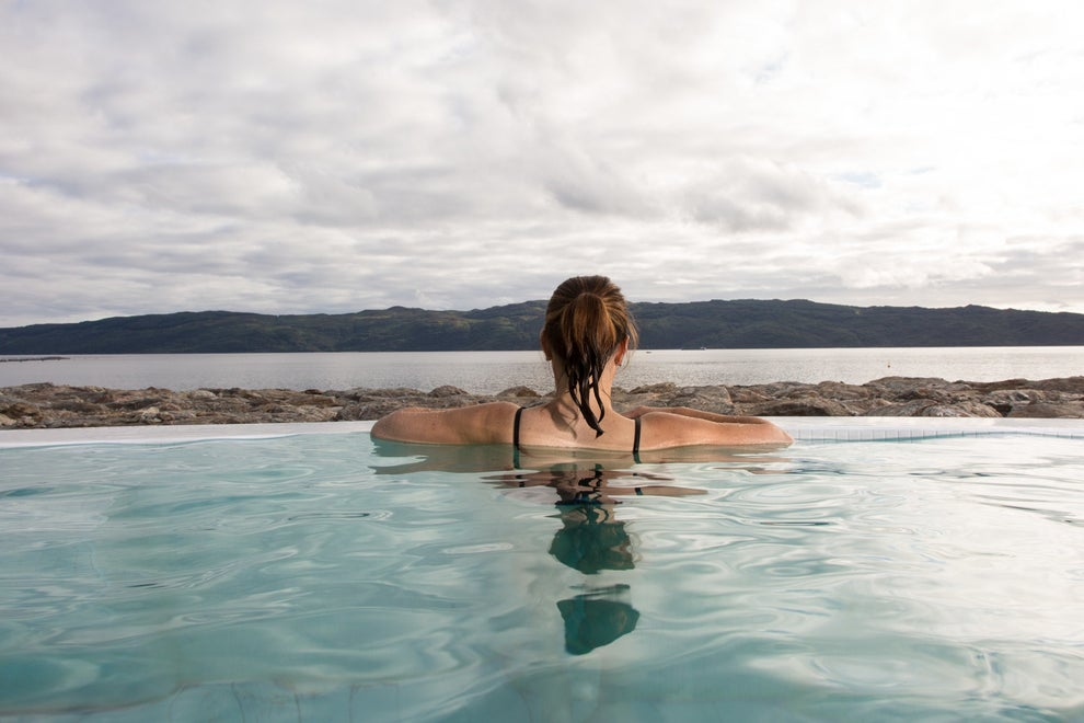 Have a hot spring experience at Portavadie Marina.