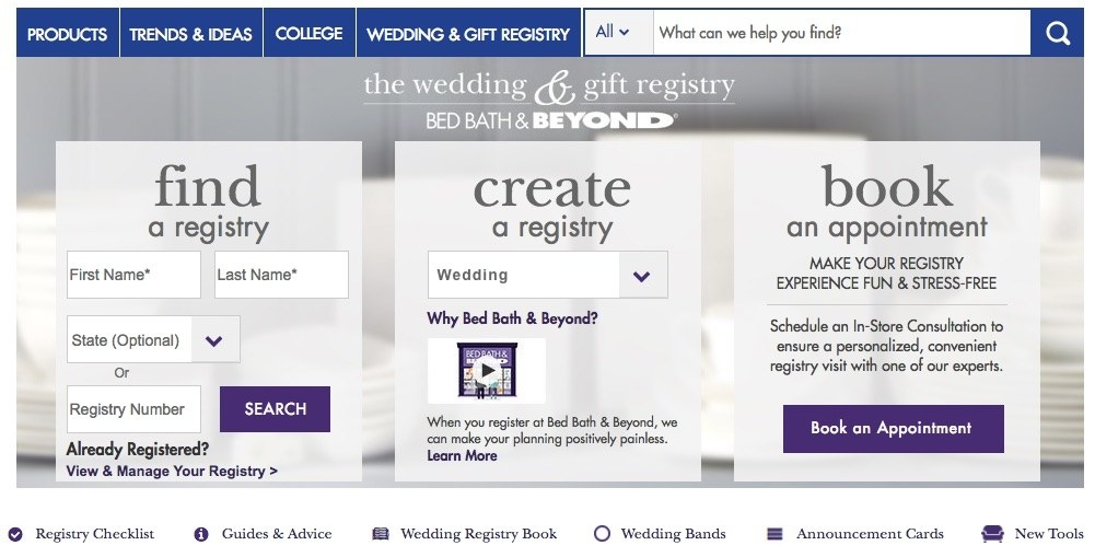Wedding Invitations Bed Bath And Beyond: 10 Of The Best Places To Set Up Your Wedding Registry
