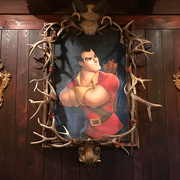 There's even a portrait of Gaston that's roughly the size of a barge.