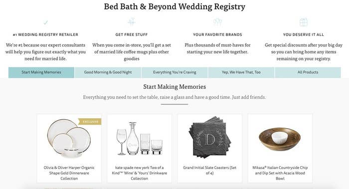 10 Of The Best Places To Set Up Your Wedding Registry