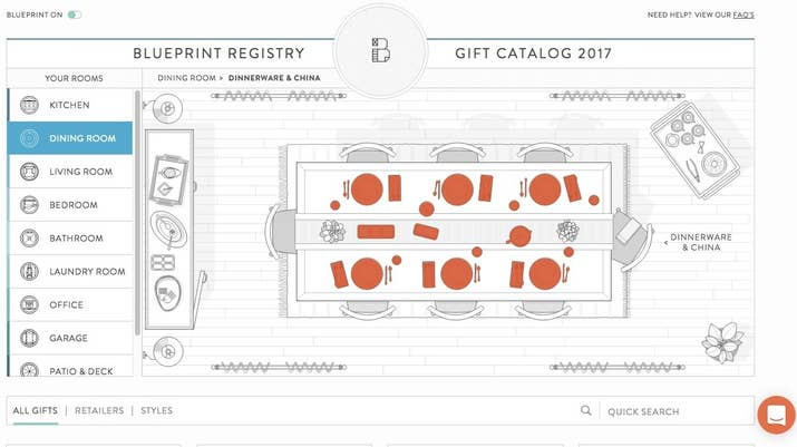 10 of the best places to set up your wedding registry blueprint registry for registry inspiration by the room malvernweather Gallery
