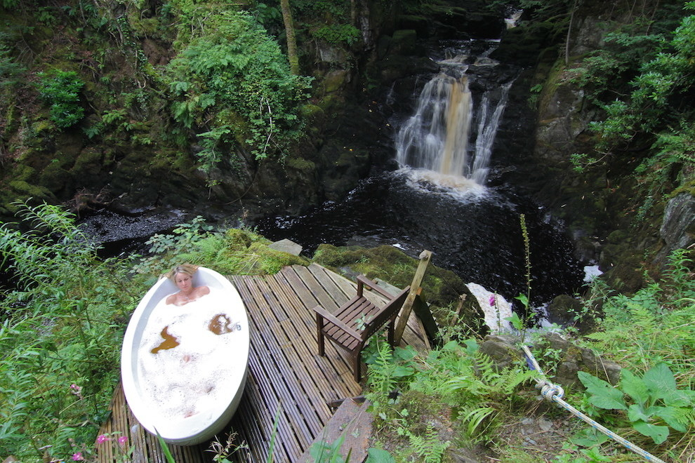 Take an outdoor bath at the EcoYoga Centre.