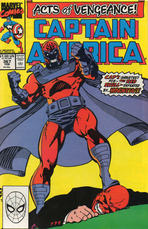 The Red Skull and Magneto also have history – Magneto has attempted to destroy the Red Skull on numerous occasions. Their rivalry is rooted in Magneto's identity as a former prisoner in Auschwitz and the Skull's support of Hitler.