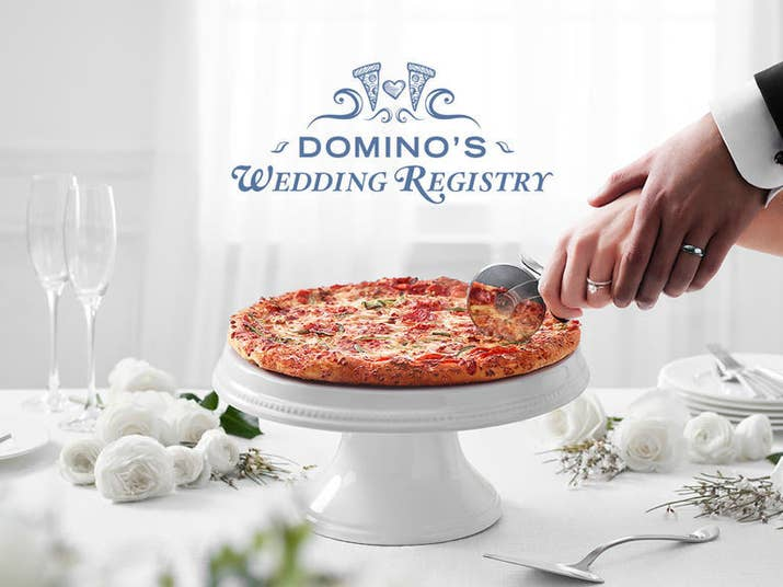Domino S Launched A Wedding Registry Website Where You Can Build