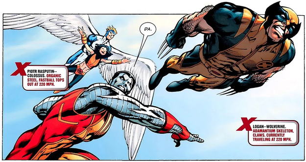 "You never see a ""fastball special,"" i.e., Colossus throwing Wolverine at a bad guy."