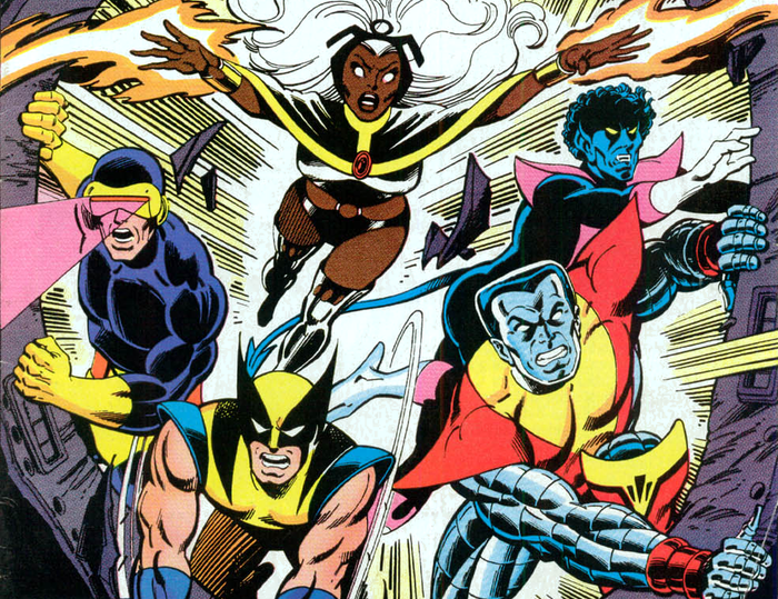 This would be Cyclops, Storm, Wolverine, Nightcrawler, and Colossus, but could also include Jean Grey or Kitty Pryde. You know, the goddamn X-Men!