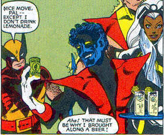 You never get to see Wolverine and Nightcrawler be best friends.