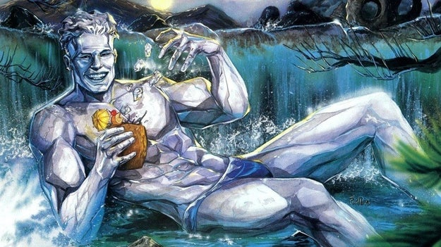 You never see Iceman come out as gay.