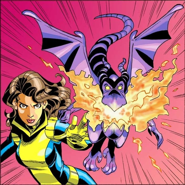 You never see Kitty Pryde's pet dragon Lockheed.
