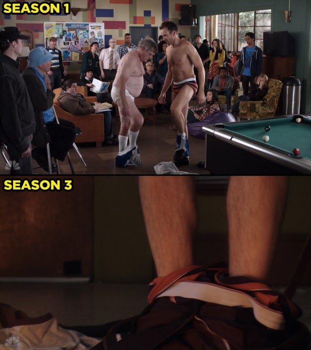 Dean wore the same type of underwear we saw Jeff wear during Season One...