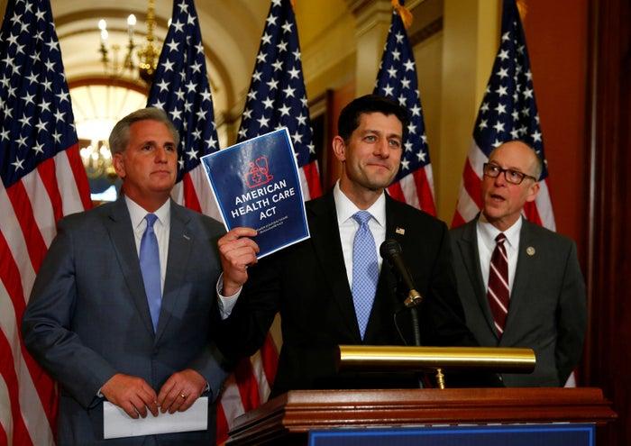 House Majority Leader Kevin McCarthy, House Speaker Paul Ryan, and Representative Greg Walden