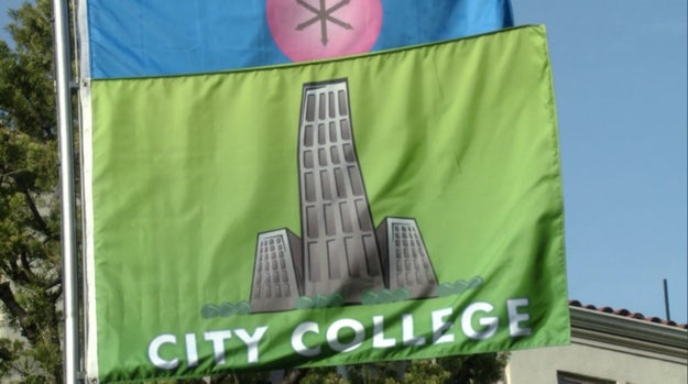 When the Greendale anus flag was lowered and City College's was raised, it looked like this.