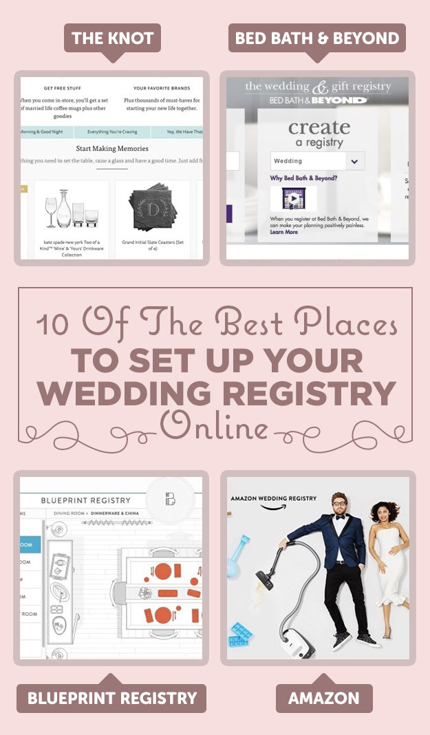 10 of the best places to set up your wedding registry for Top places for wedding registry