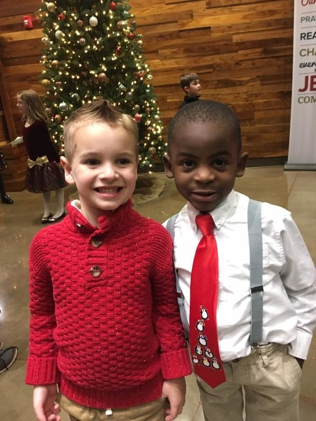 This is 5-year-old Jax and his friend Reddy. They go to school together in Louisville, Kentucky.