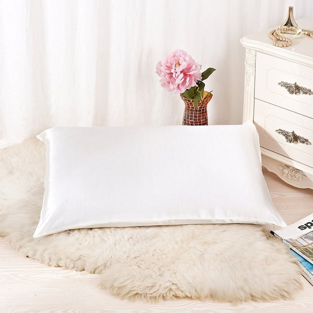 And pure silk pillowcases that care for your hair and skin while you sleep.