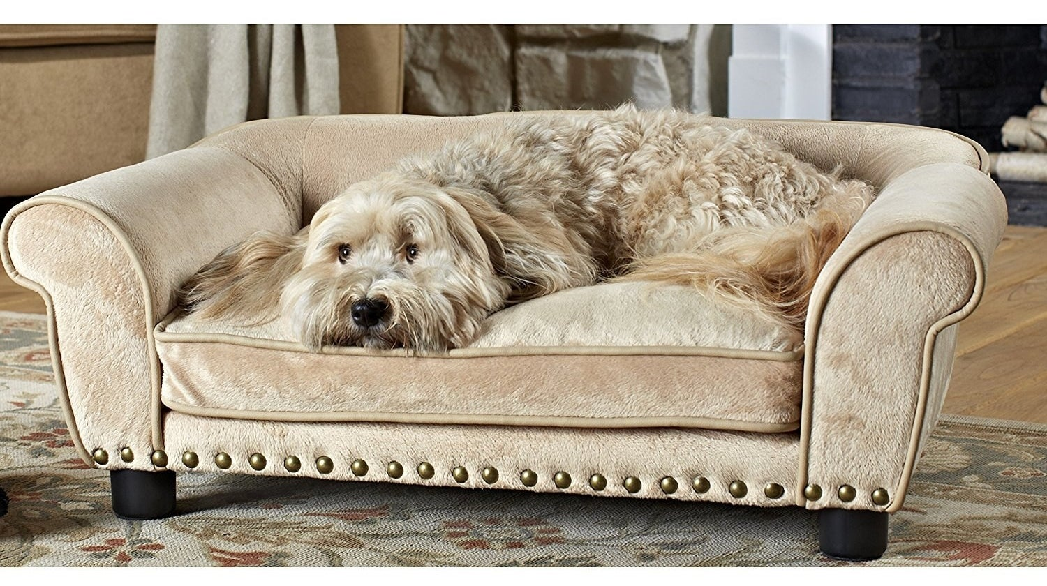 And a sophisticated sofa pet bed for your furbaby, who's living *the life* right alongside you.