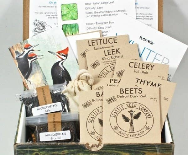 A Quarterly PlowBox Packed With Organic Seeds And Gardening Gifts For Amping Up The Curb Appeal At Their New Digs