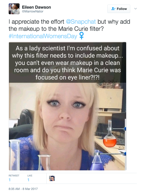 Given her work, many felt the makeup was unnecessary.