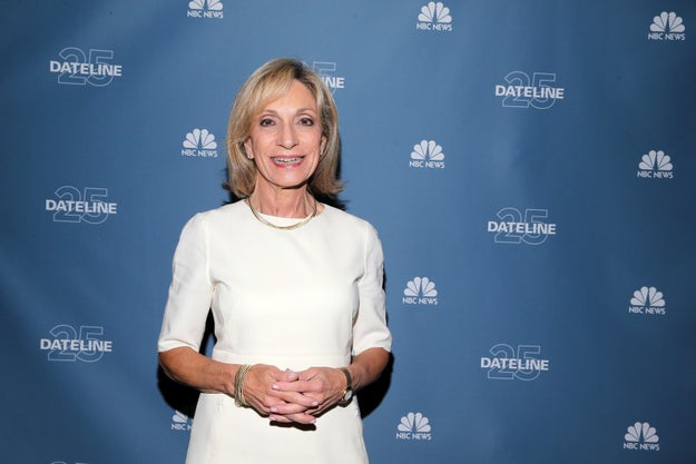 This is, of course, NBC reporter and news anchor Andrea Mitchell.