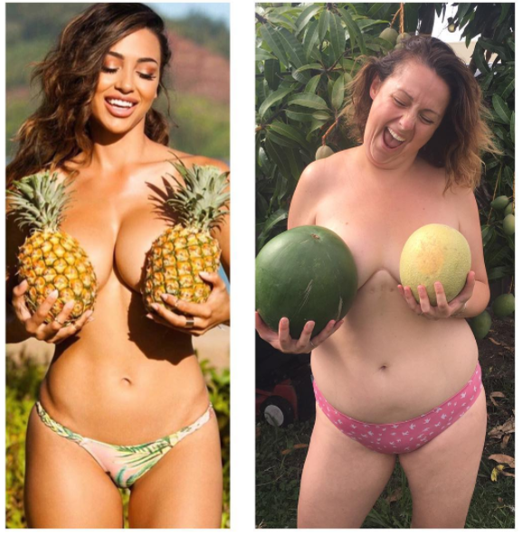 Celeste is an Australian actress, comedian, and mother of two boys who hilariously re-creates celebrity Instagram photos.