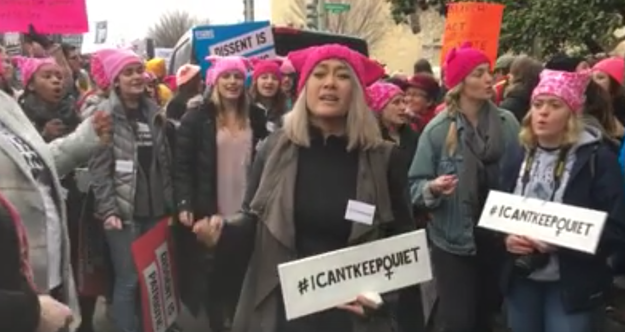 """You may remember the song """"Quiet"""" that went viral during the Women's March in January and inspired women everywhere to come together and form #icantkeepquiet choirs."""