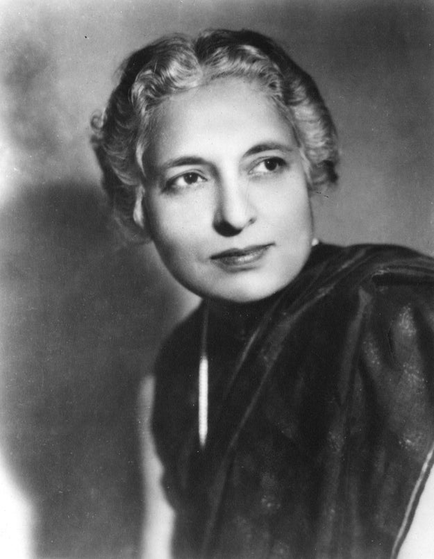 Vijaya Lakshmi Pandit — the first woman (and first Indian) president of the United Nations General Assembly.